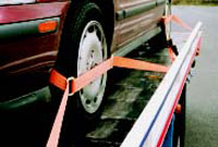 lashing equipment for cars